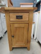 Oak small cupboard with single drawer and single door cupboard (152)