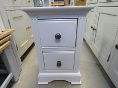 Blue painted 2 drawer bedside cabinet (39)