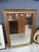 5240 Rectangular bevelled mirror in gilt frame