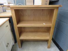 Oak dresser top/open front bookcase (159)