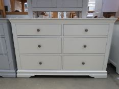 Large white painted 6 drawer chest (48)