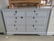 Blue painted 6 drawer chest of drawers (48)