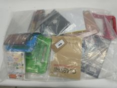 Bag containing various tablet cases and covers