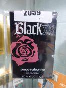Black XS Paco Rabanne 80ml perfume in sealed box