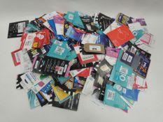 Bag containing quantity of various mobile SIM cards