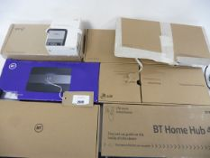 bag of 7 assorted BT hub routers inc Hub 6, 2 Home Hub 4, 3 Home Hub 2, Smart Hub & BT Hub Phone