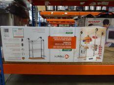 3081 - Boxed Trinity bamboo top kitchen cart