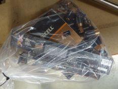 Bag containing assorted Kirkland Duracell batteries