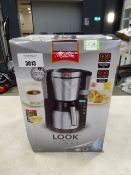 (TN46) Boxed Melitta Look Therm timer coffee machine