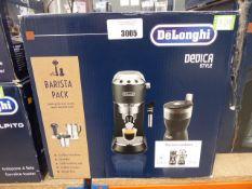 (TN59) De'Longhi Dedica style coffee machine and grinder set
