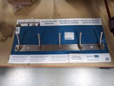 Wall mounted hook rail