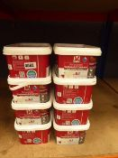 8 tubs of linen satin renovation paint for cupboards and cabinets