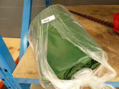 Green rubberised tarpaulin