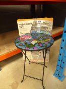 Humming bird glass side table