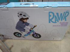 Boxed Rawr childs balance bike