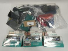 Bag of loose glasses cases and reading glasses to include One power readers boxed.