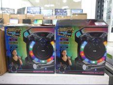 2 RockJam karaoke party speaker packs