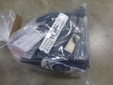 Bag containing various replacement remote controls