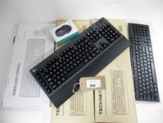 Logitech C1 G613 wireless gaming keyboard, Dell keyboard, Jelly Comb USB C mouse, 2 boxed Technet