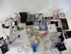 Bag of dress jewellery inc Pandora ring & necklace,
