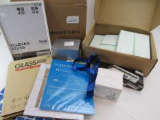 Bbag containing stationery incl. money box, lanyard, bedroom storage box, envelopes, pen holder,