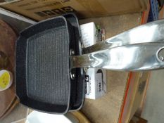 Griddle and grill pan (both used) plus 2 Gotham Pro steel pans