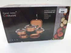 Daniel James 10 piece copper cookware set