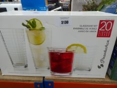 3148 - Box containing a glassware set