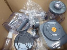 (TN10) Box containing Kenwood food processor with attachments Make - Multi pro compact