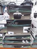 5 piece BergHOFF Eurocast Professional Series pan set with boxes to include saucepan, stock pot, 2