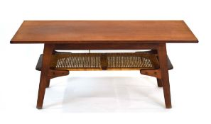 A 1960's Danish teak and crossbanded coffee table,