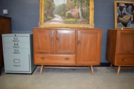 Ercol sideboard of 3 doors and single drawer Damage to 1 handle and typical surface scratches,