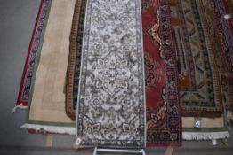 Modern Torino carpet runner in shades of grey and brown, approx. 67 x 240cm