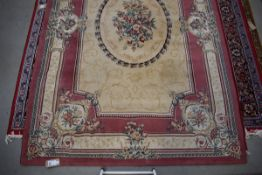 (13) A Ouchak wool carpet in the French manor in shades of cream and pale pink approx 200 x 300cm