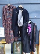 G. A. Dunn & Co. Ltd. tweed type coat, a Liberty floral dress and selection of vintage clothing