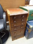 Late 19th/ Early 20th Century mahogany 6 drawer cabinet Very poor condition