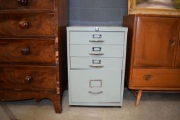 5176 Grey and orange painted filing cabinet In need of attention