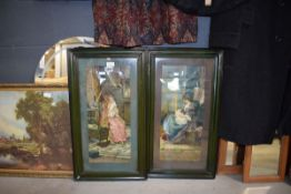 Pair of framed and glazed prints depicting mothers nursing their babies by Eva Hollyer Badly water
