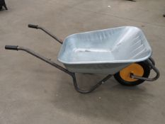 Galvanised wheelbarrow