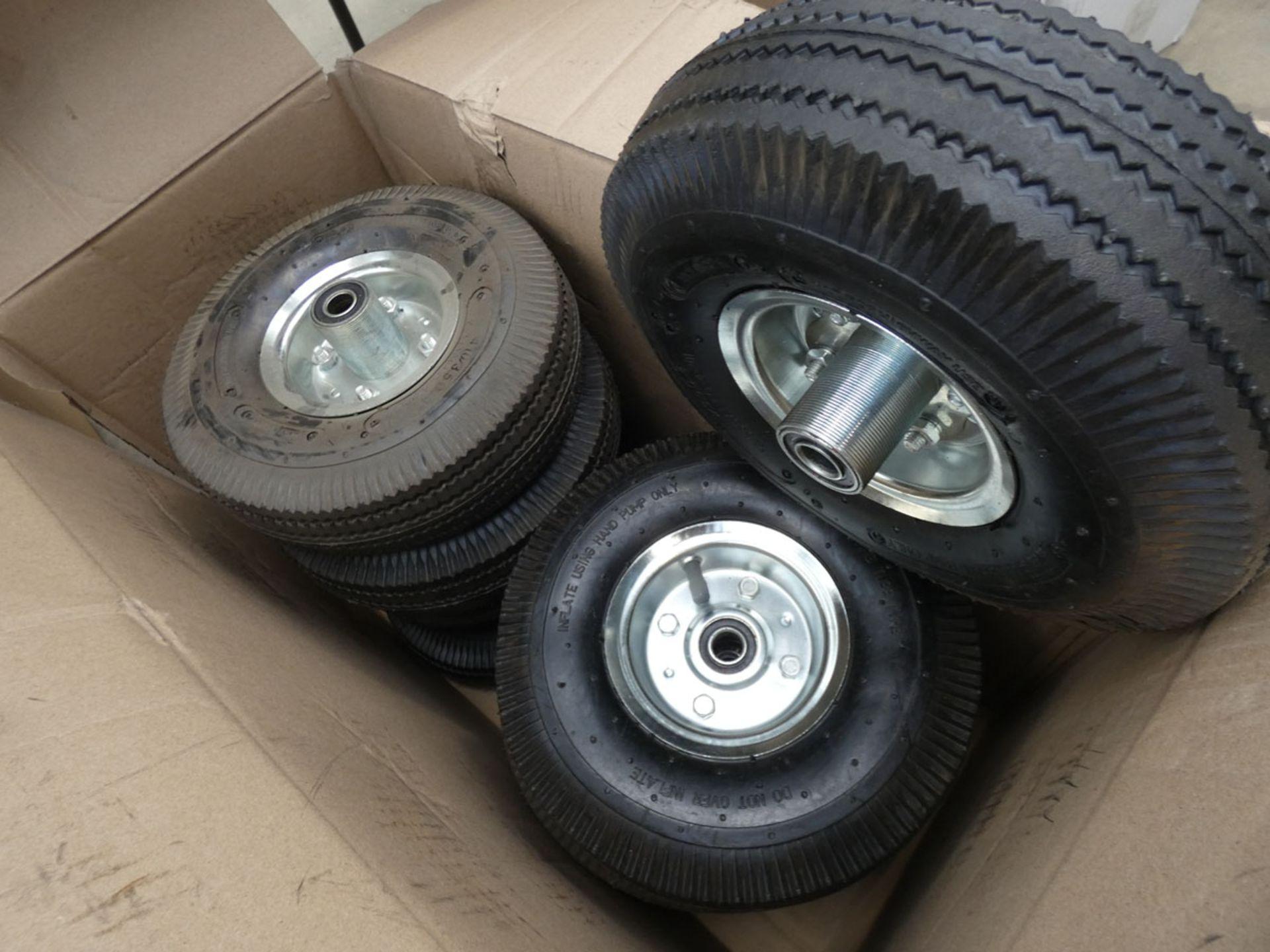 Box of sack barrow wheels