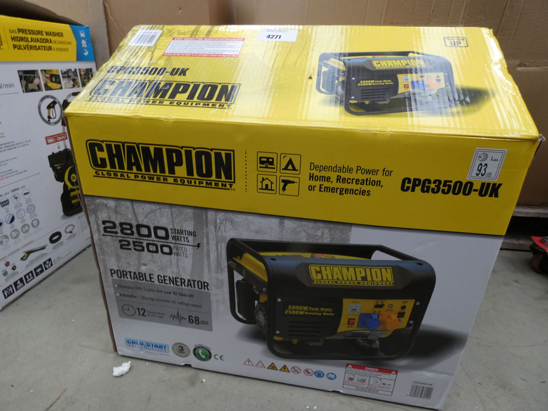 Boxed Champion petrol powered generator