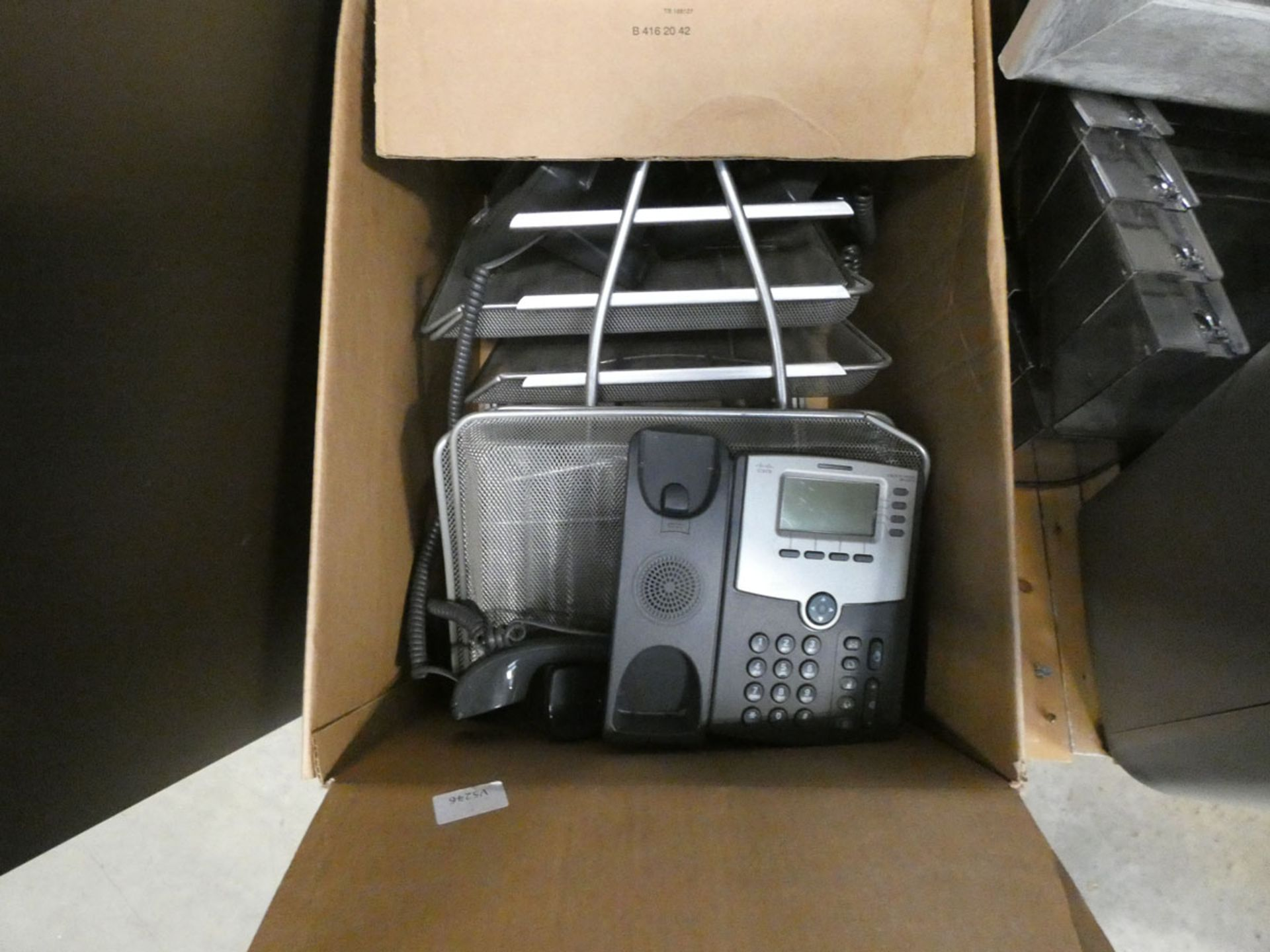 Assorted items to include paper shredder, file tray, Christmas tree, waste bins, and mirror - Image 4 of 5