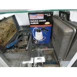 Sealey vacuum brake bleeder, Sykes-Pickavant brake flaring tool kit and a Sykes-Pickavant vacuum