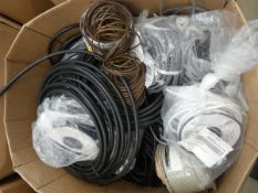 Box of various cable and armoured cable