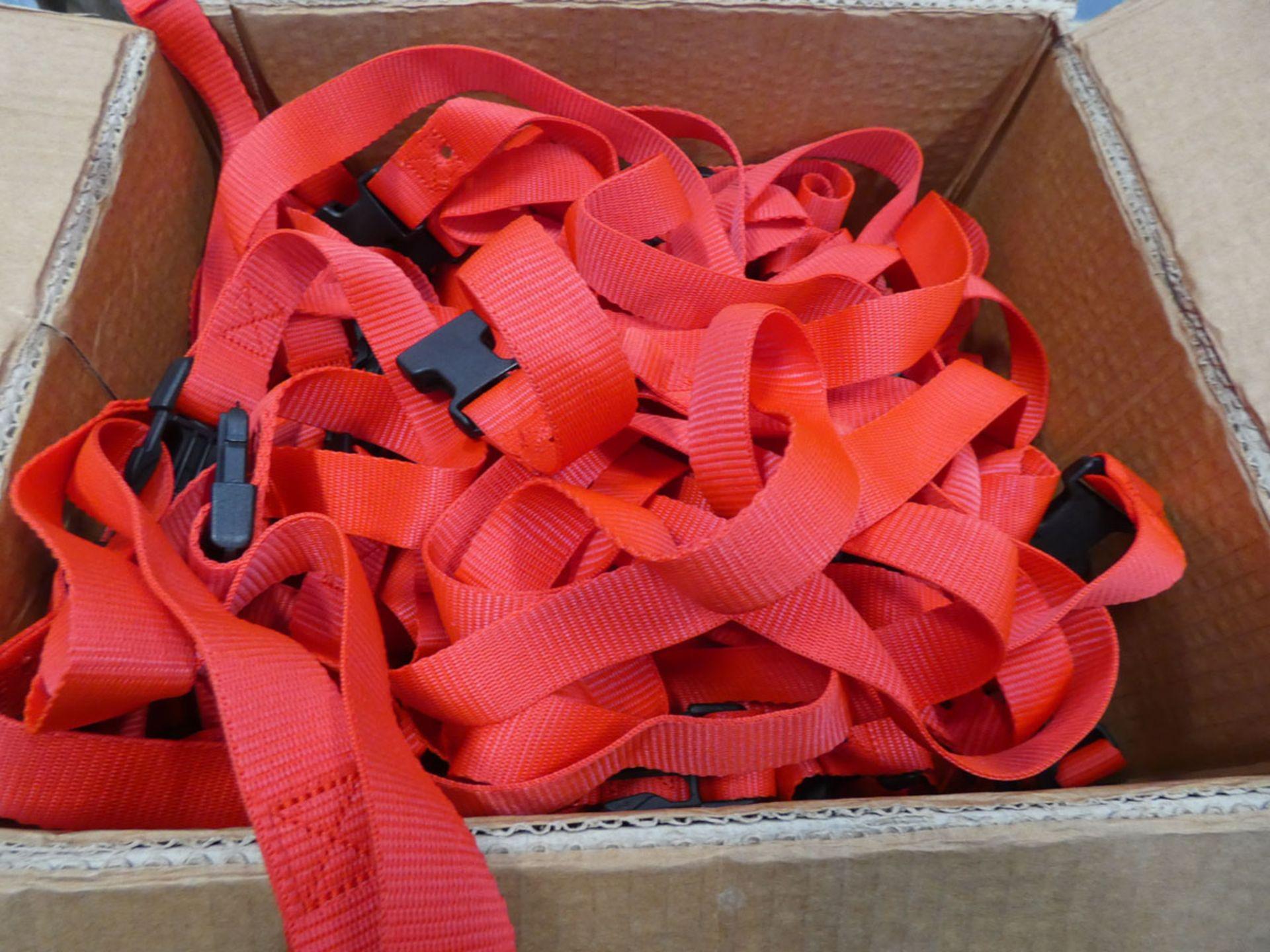 Box of small webbing straps