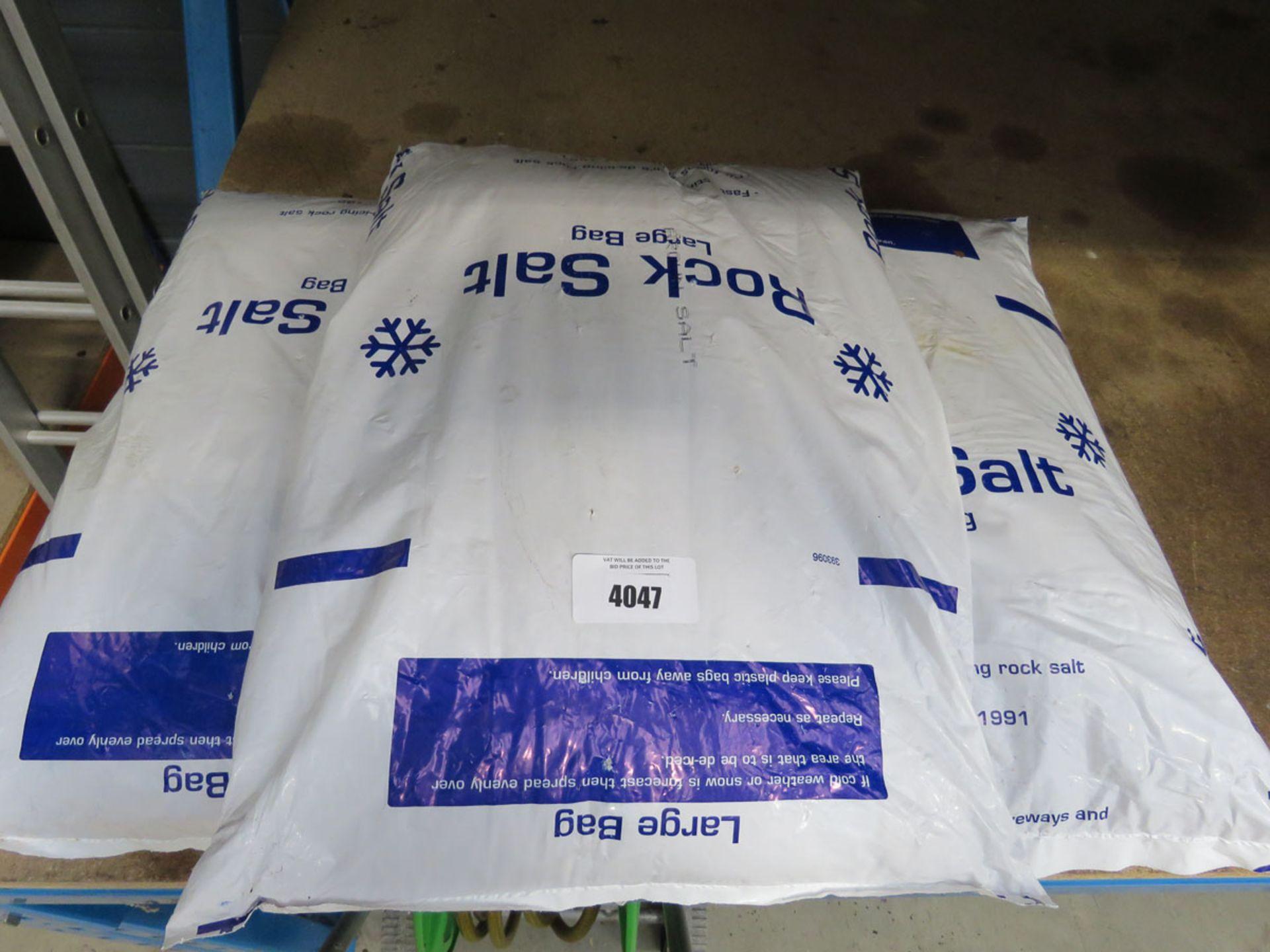 3 bags of rock salt
