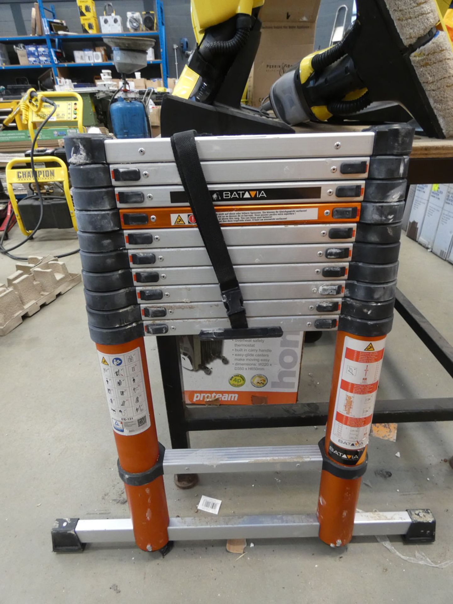 Batavia unboxed telescopic ladder