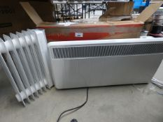 Dimplex panel heater and small oil filled radiator