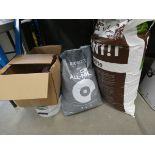Quantity of garden items to include compost, Pearlite, worm enhancer, rock salt, and formula