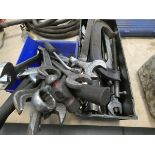 2 boxes of files, clamps, large spanners, hammers, etc.